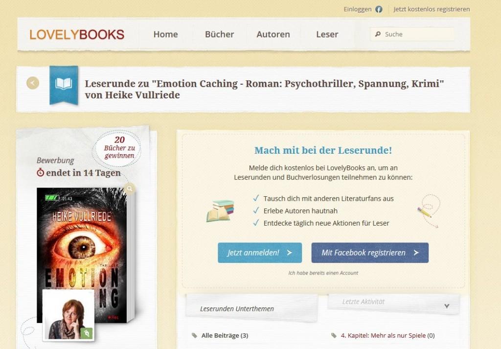 Leserunde Lovelybooks